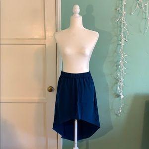 NWT High-Low Skirt - Blue